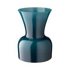 Salviati Medium Daisy Profili Vase in Peacock Green by Anna Gili