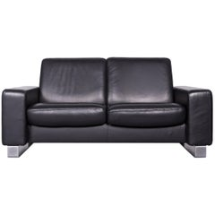 Ekornes Stressless Space Leather Sofa Black Recliner