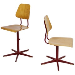 Height Adjustable School Chairs by Embru 1960's Switzerland