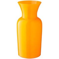 Salviati Medium Sword Lily Profili Vase in Yellow by Anna Gili