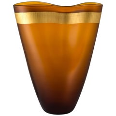 Salviati Large Pizzicati Vase in Brown by Norberto Morett