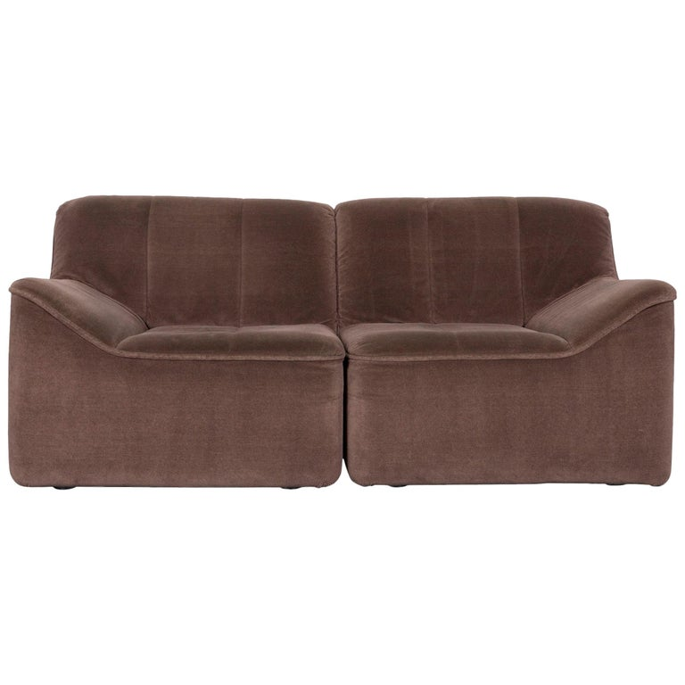 COR Designer Fabric Sofa Brown Two-Seat Couch