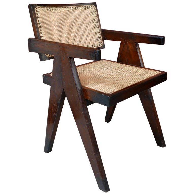 Pierre Jeanneret, Office Cane Chair, PJ-SI-28-A, circa 1955