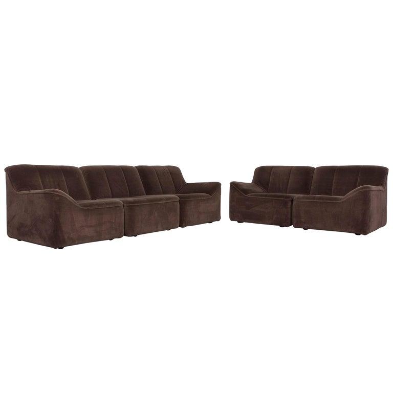 COR Designer Fabric Sofa Brown Three-Seat Couch