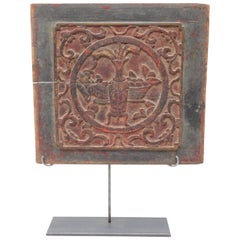 Early 19th Century Chinese Carved Panel on Stand