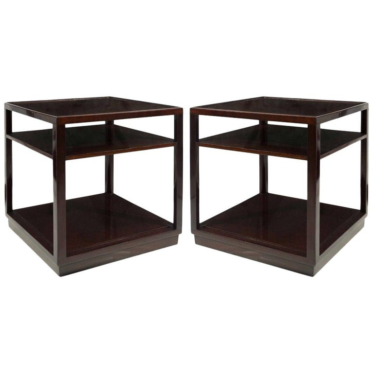 Pair of Perfect Cube End Tables by Edward Wormley for Dunbar