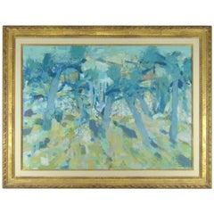 Original Oil On Canvas French Artist Eugene Baboulene Campagne Dans Les Oliviers