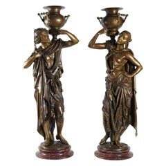 Pair of Large Torchère, 19th Century