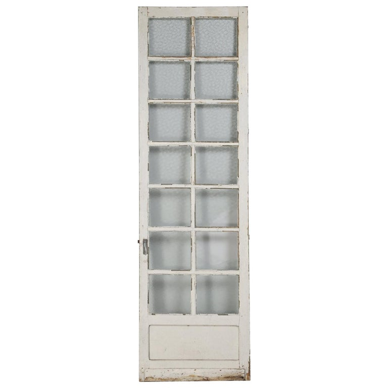 Antique French Door in Old Paint For Sale