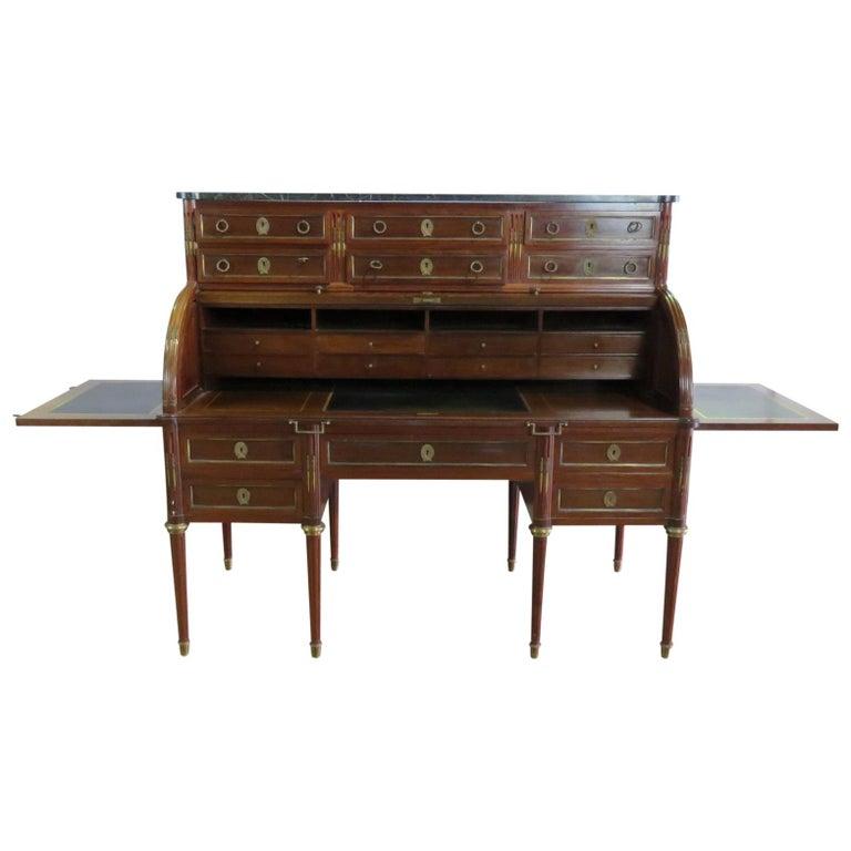 Maison Jansen Directoire Style Cylinder Desk