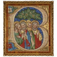 Four Saints, after Illumination by Olivetan Master Italian Renaissance Artist