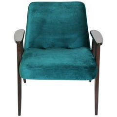 Vintage 366 Armchair in Green Velvet from 1970s