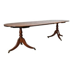 Extending Dining Table, Regency Revival, English, Mahogany, Seats Ten