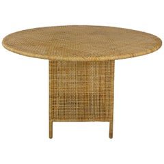 French Design Rattan Round Dining Table