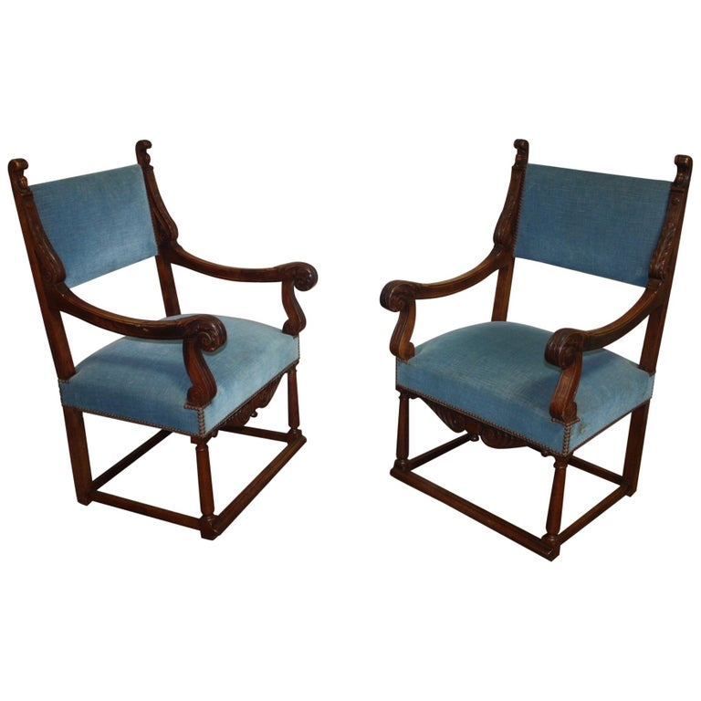 French, 19th Century Pair of Armchairs
