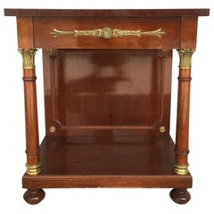 Louis XVI Style Library or Center Table in the Manner of Sosthène Bellanger