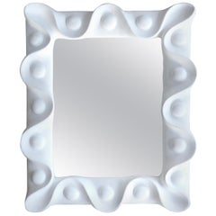 Vintage Plaster Mirror in the Manner of Serge Roche