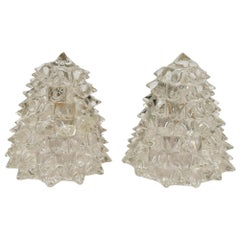 Pair of Archimedes Seguso Glass Sconces