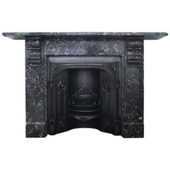 19th Century Late Victorian St Anne Marble Fire Surround