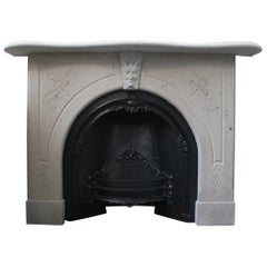 Reclaimed Mid-19th Century Stone Fireplace Surround