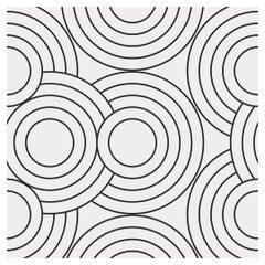 Crop Circles Designer Wallpaper in Color Chalk 'White on Black'