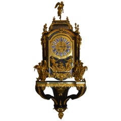 19th Century French Boulle Clock with Pedestal