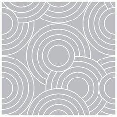 Crop Circles Designer Wallpaper in Color Tin 'Grey on White'