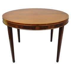 Drexel Wallace Nutting Round Flame Mahogany Inlaid Dining Room Table