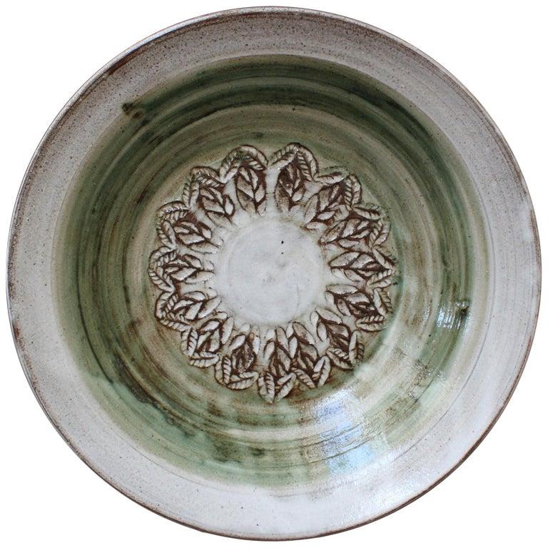 Midcentury Decorative Ceramic Bowl by Albert Thiry, circa 1960s