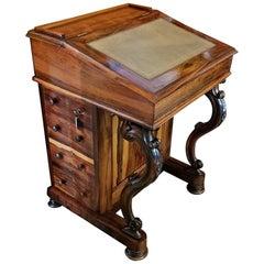 19th Century British Rosewood Davenport Desk, Exceptional
