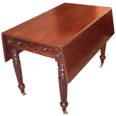 19th Century British William IV Mahogany Large Pembroke Table or Sofa Table