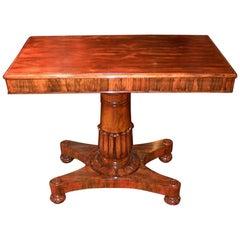 19th Century British William iv Telescopic Rosewood Side Table