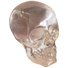 Lucite Skull or Skeleton Sculpture or Paperweight