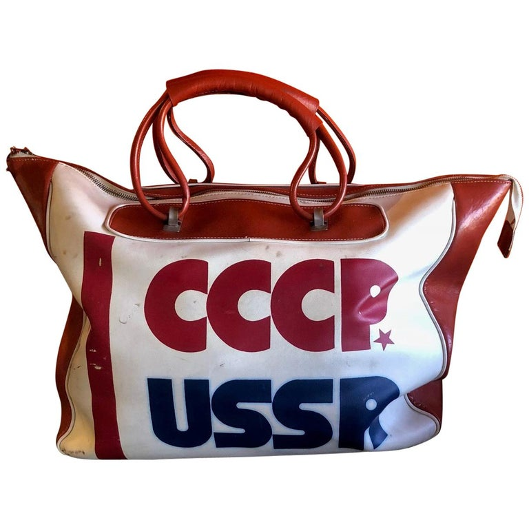Authentic CCCP USSR Olympic Sports Bag For Sale