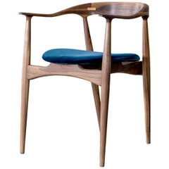 Korsu Walnut and Velvet Dining Chair by ATRA