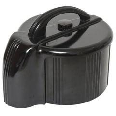 Art Deco Black Bakelite Poker Chip Holder Caddy