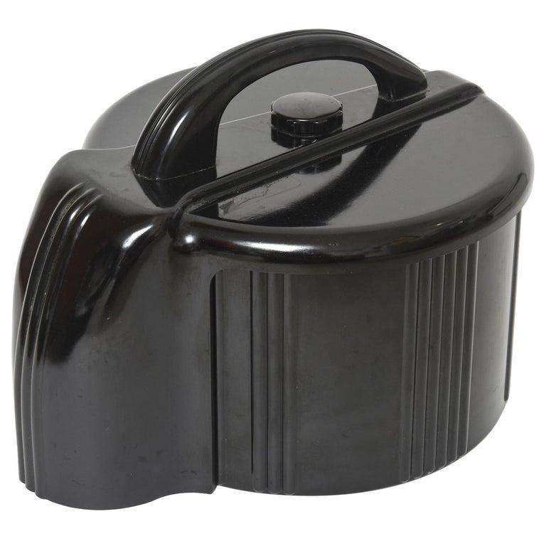 Art Deco Black Bakelite Poker Chip Holder Caddy For Sale