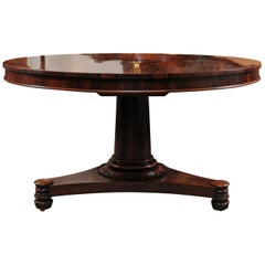 Early 19th Century William IV Rosewood Center Table
