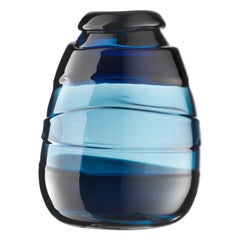 Salviati XL Medium Sassi Vase in Blue by Luciano Gaspari