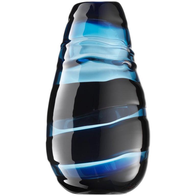 Salviati Large Sassi Vase in Blue by Luciano Gaspari