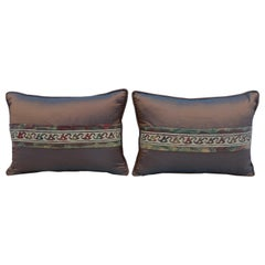 Pair of Fortuny and Silk Pillows