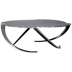 Espiral Sculptural Coffee Table in Polished Steel by Atra