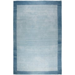 Blue Vintage Indian Dhurrie Rug