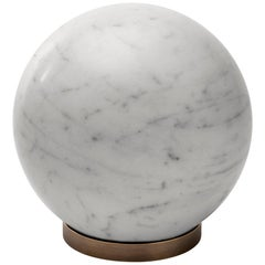 Salvatori Gravity Sphere in Bianco Carrara Marble with Brass Base