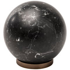 Salvatori Gravity Sphere in Nero Marquina Marble with Brass Base