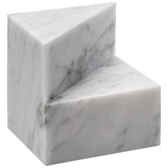 Salvatori Kilos Cube Paperweight in Bianco Carrara Marble by Elisa Ossino