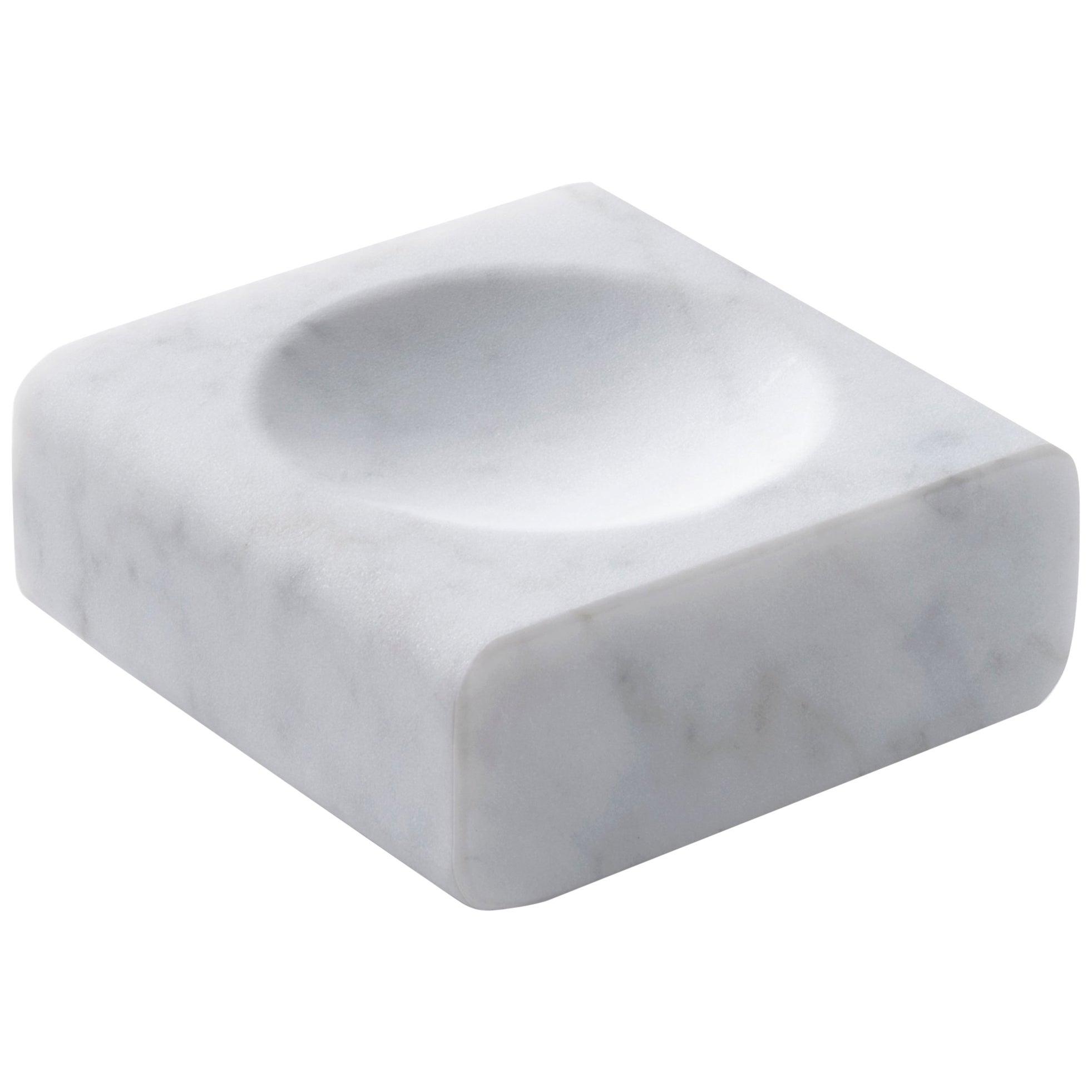 Salvatori Pillow Dish Tray In Bianco Carrara Marble By John