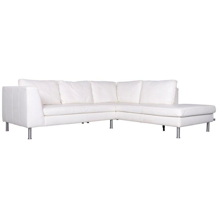 Ewald Schillig Designer Leather Sofa Brown Corner Couch For Sale at ...