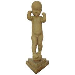 Colossal Kai Nielsen Figure of terracotta, 'A little Globetrotter'