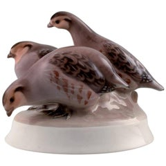 Rare Bing & Grondahl Bird B&G Number 1621 Partridges